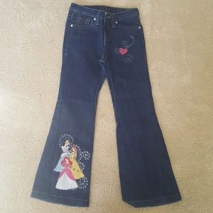 Disney Exclusive girls princess jeans sz 6